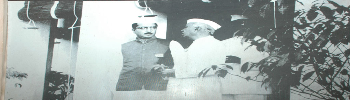 PVG Raju (Rajasaheb of Vizianagram) with Former Prime Minister